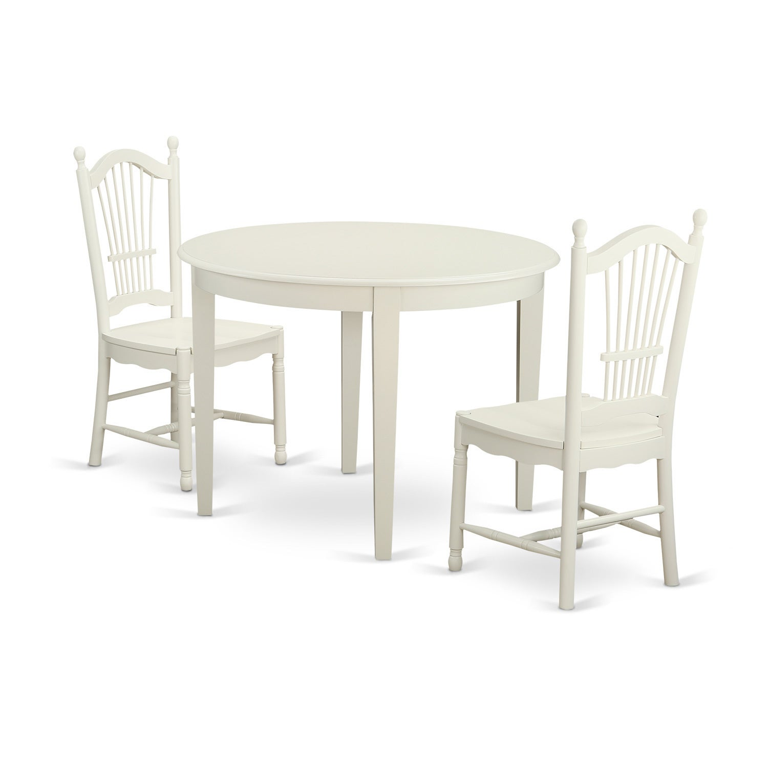 3-piece Kitchen Nook Dining Set with Table and 2 Dining C...