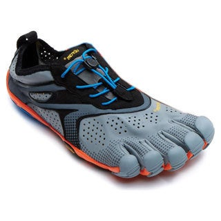 Vibram Fivefingers V-run Grey/Blue/Orange Rubber Footwear