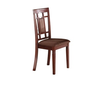 Cherry & Chocolate Microfiber Sonata Dining Chair (Set-2)