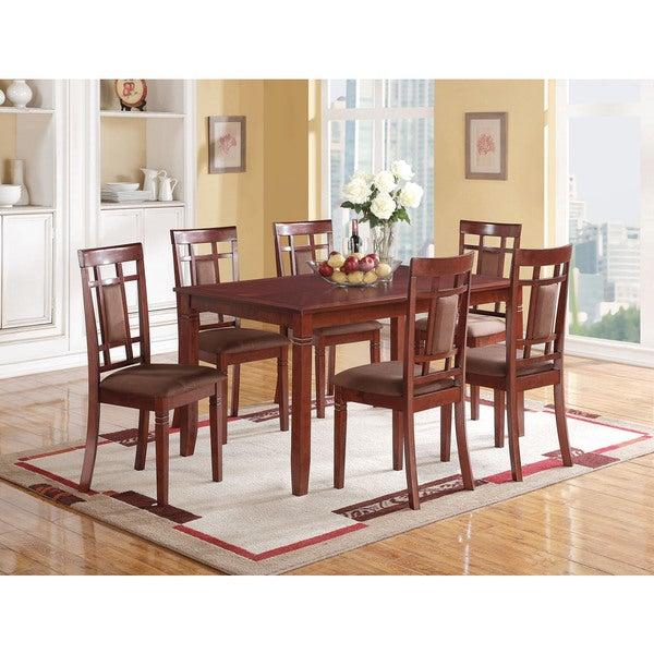 Cherry & Chocolate Microfiber Sonata Dining Chair (Set-2)