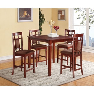 Cherry & Chocolate Microfiber Sonata 5-piece Counter Height Set