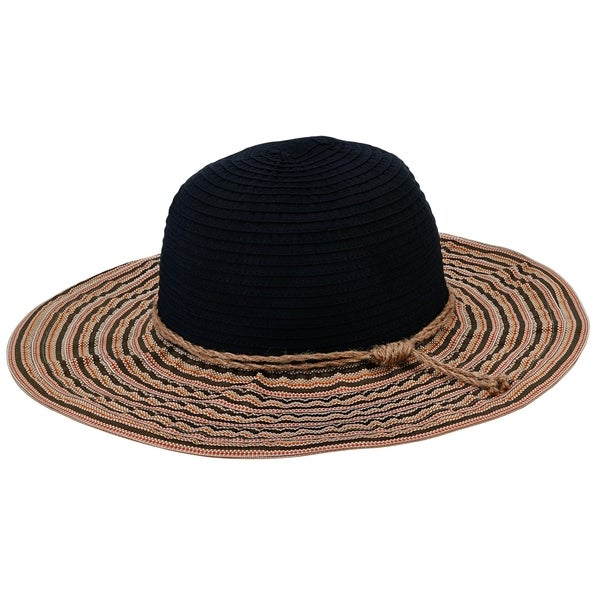 Shop Women s San Diego Hat Company Packable Ribbon Crusher Medium Brim Hat  RBM5559 Black - Free Shipping On Orders Over  45 - Overstock.com - 12028648 73118f687b33