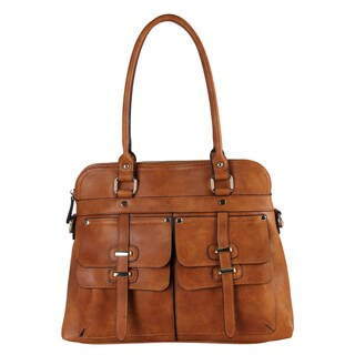 Rimen and Co. Faux Leather Two-top Handle Zippered-closure Satchel Handbag