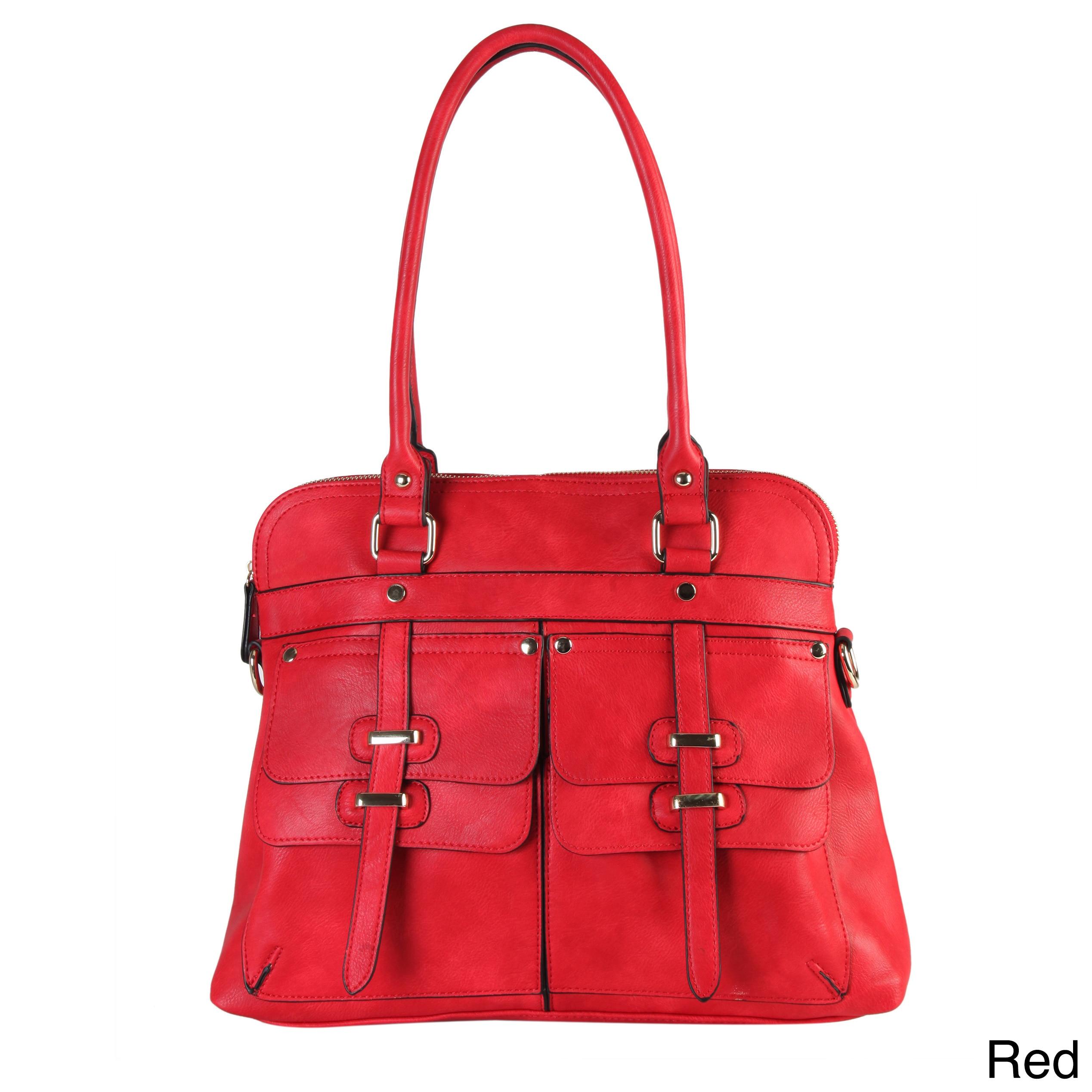 4009de1014 Shop Rimen and Co. Faux Leather Two-top Handle Zippered-closure ...
