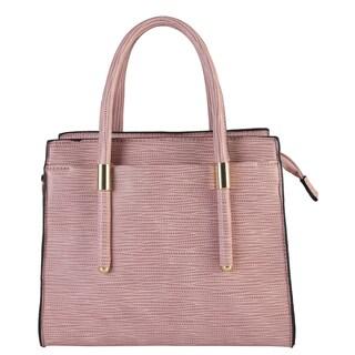 Diophy Womens Faux Leather Zipper Closure Mini Tote Handbag