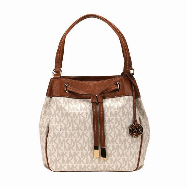 28af2e0d4 Shop Michael Kors Vanilla Marina Large Drawstring Tote Bag - Free ...