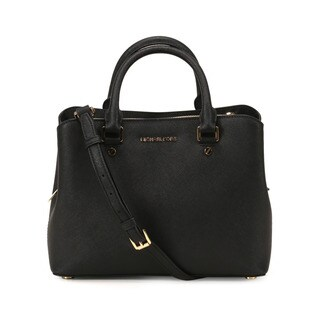 Michael Kors Black Savannah Medium Satchel Handbag