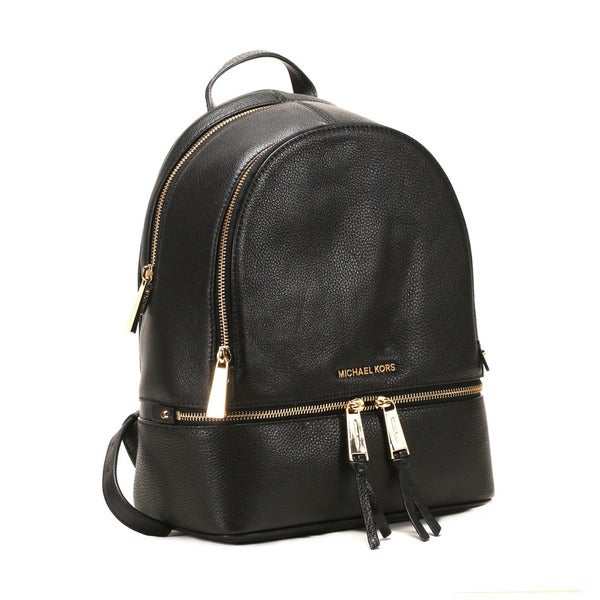 6cfeb3e205cf Shop Michel Kors Black Rhea Black Zip Small Backpack - Free Shipping ...