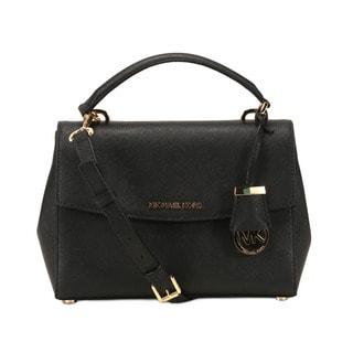 Michel Kors Black Ava Small Satchel Handbag