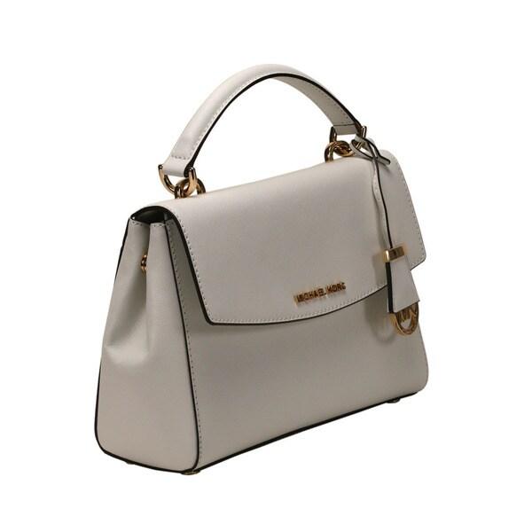 Shop Michael Kors Optic White Ava Small Satchel Handbag