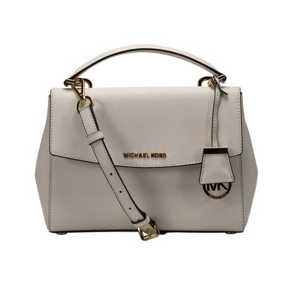 95f0a3e2412609 Shop Michael Kors Optic White Ava Small Satchel Handbag - Free ...