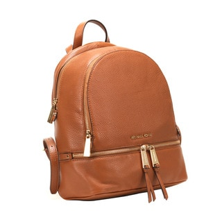 Michel Kors Luggage Rhea Luggage Brown Zip Small Backpack