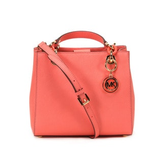 Michael Kors Pink Grapfruit Cynthia Small North South Satchel Handbag