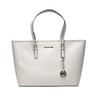 Michael Kors Optic White Jet Set Travel Medium Multi Function Tote Bag