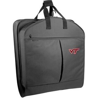 WallyBags Virginia Tech Hokies Black 40-inch Garment Bag With Pockets