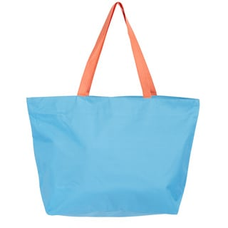 Leisureland Large Solid Color Beach Tote Bag