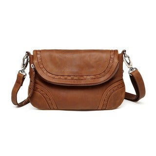 Vicenzo Leather Bella Saddle Leather Crossbody Handbag