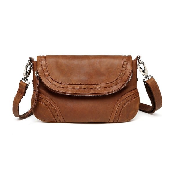 Shop Vicenzo Leather Bella Saddle Leather Crossbody Handbag - Free ... c5510a33726b9