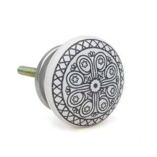 Black Wheel Ceramic Drawer/ Door/ Cabinet Pull Knob (Pack of 6)