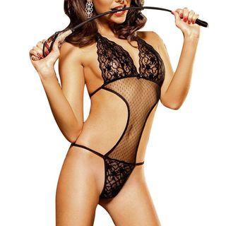 Zodaca Women's Lingerie Black Lace Bodysuit Sleepwear Underwear