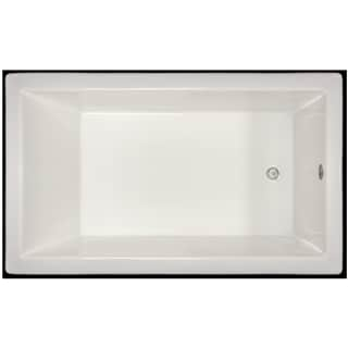Signature Bath White Acrylic 59.5-inch x 35.5-inch x 19-inch Drop-in Bath