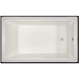 Signature Bath White Acrylic 59.5-inch x 35.5-inch x 19-inch Drop-in Bath