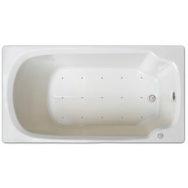 Shop Signature Bath Acrylic 60-inch x 32-inch Drop-In Air Bathtub ...
