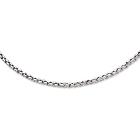 Chisel Men's SS Polished 19.75-inch Fancy Link Chain Necklace