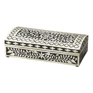 Butler Vivienne Black Wood with Bone Inlay Storage Box