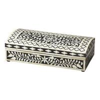 Handmade Butler Vivienne Bone Inlay Storage Box (India)