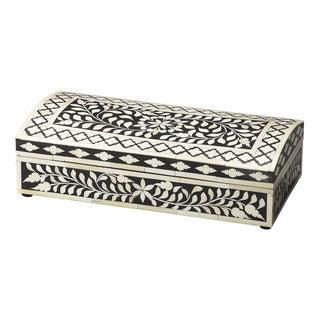 Butler Vivienne Black Wood with Bone Inlay Storage Box