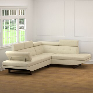 Clay Alder Home Antioch Oatmeal Linen 2-piece Sectional