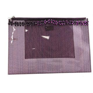 Deux Lux Women's Pasha Pouch Purple PVC Handbag