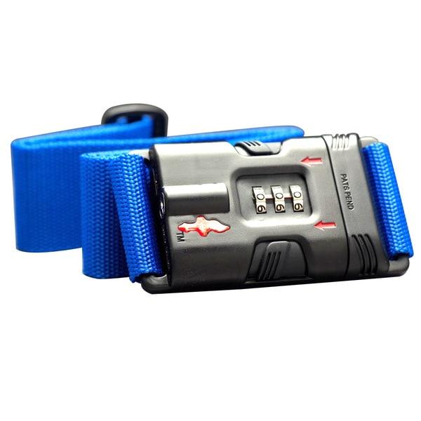 df08eb0600f7 Shop Safe Skies Blue ABS Nylon TSA-Recognized Locking Luggage Strap ...