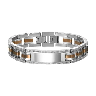 Cambridge Men's Stainless Steel Streamline Bracelet with Extender