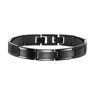 Cambridge Men's Tungsten and Black PVD Bracelet
