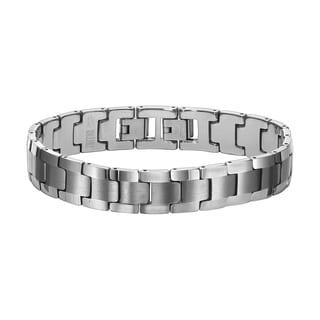 Cambridge Men's Tungsten ID Bracelet with Extender