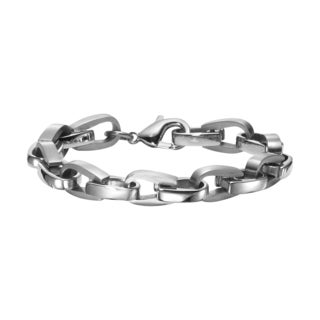 Cambridge Men's Stainless Steel Bike Link Bracelet
