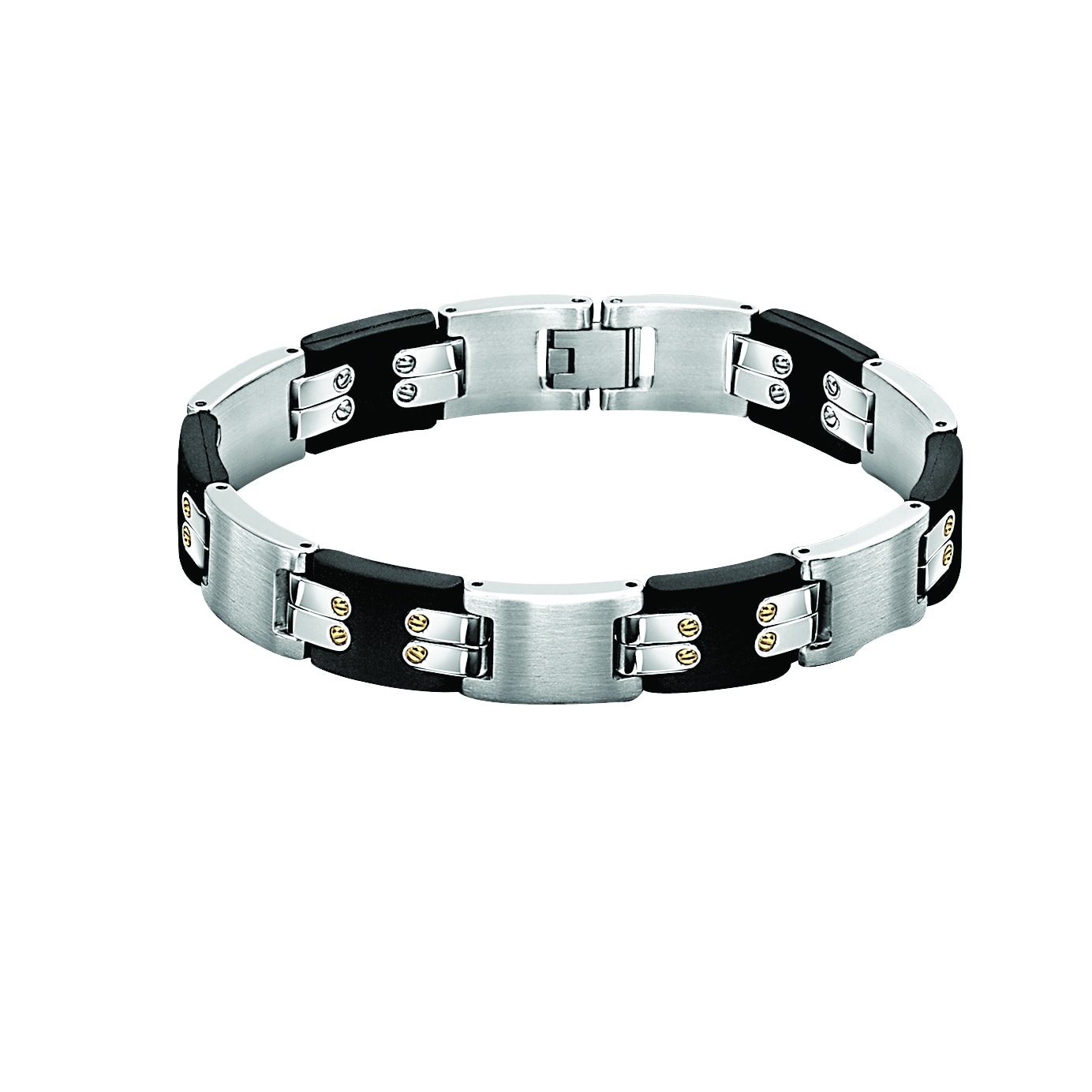 Cambridge Jewelry Stainless Steel Men's Linked Bracelet w...