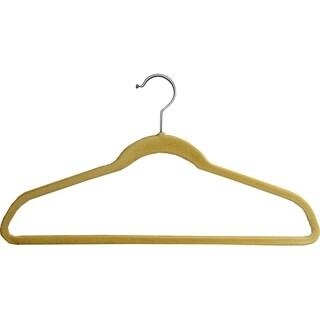 Beige Velvet Slim-Line Hanger