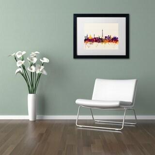 Michael Tompsett 'Paris France Skyline' Matted Framed Art