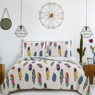 Greenland Home Fashions Dream Catcher Teal 3-piece Quilt Set