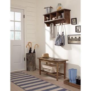 The Gray Barn Greenan Maze Reclaimed Wood Coat Hook with Storage