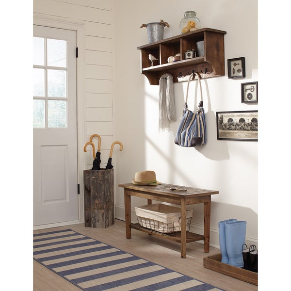 Alaterre Heritage Reclaimed Wood Coat Hook With Storage
