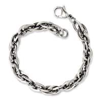 Versil Chisel Men's Stainless Steel 8-inch Oval Links Bracelet