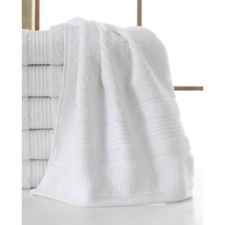 Ottomanson Solomon Collection White Cotton 16-inch x 30-inch Wash Cloths (Set of 6)