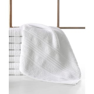 Pure Cotton Solomon Collection White Cotton 13-inch x 13-inch Wash Cloths (Set of 8)