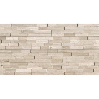 MRBASHGRYLED Natural Ledger Ashen Grey Stone Tile (Case of 7)