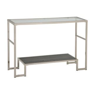 Atticus Chrome Glass 2-tier Console Table