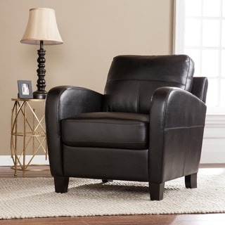 Harper Blvd Bronson Black Faux Leather Lounge Chair